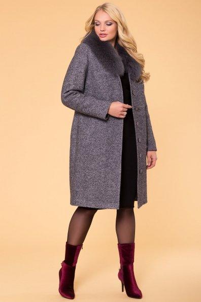 Пальто зима с меховым воротником Габриэлла Donna 6048 Цвет: Серый Темный LW-5