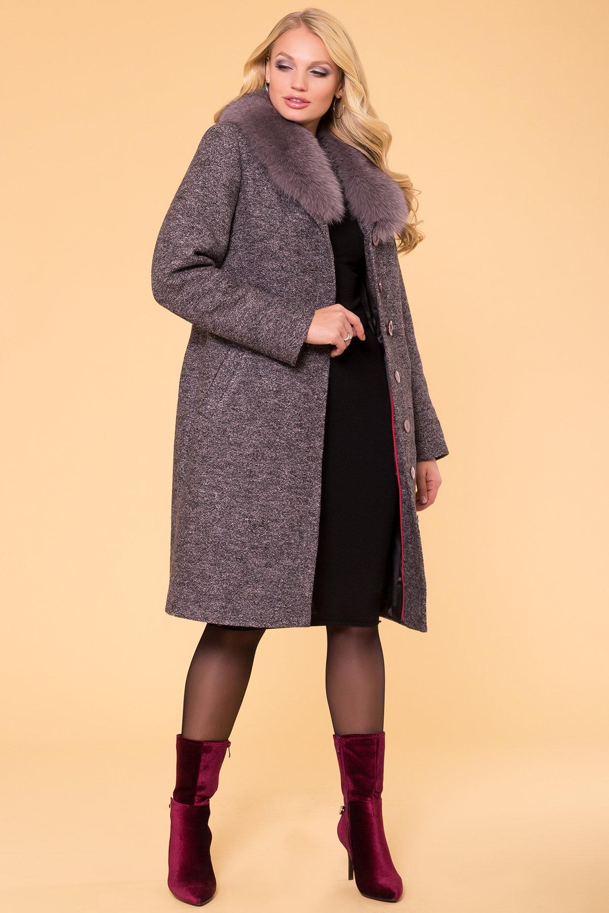 Пальто зима Габриэлла Donna 6048 Цвет: Черный/розовый-LW19