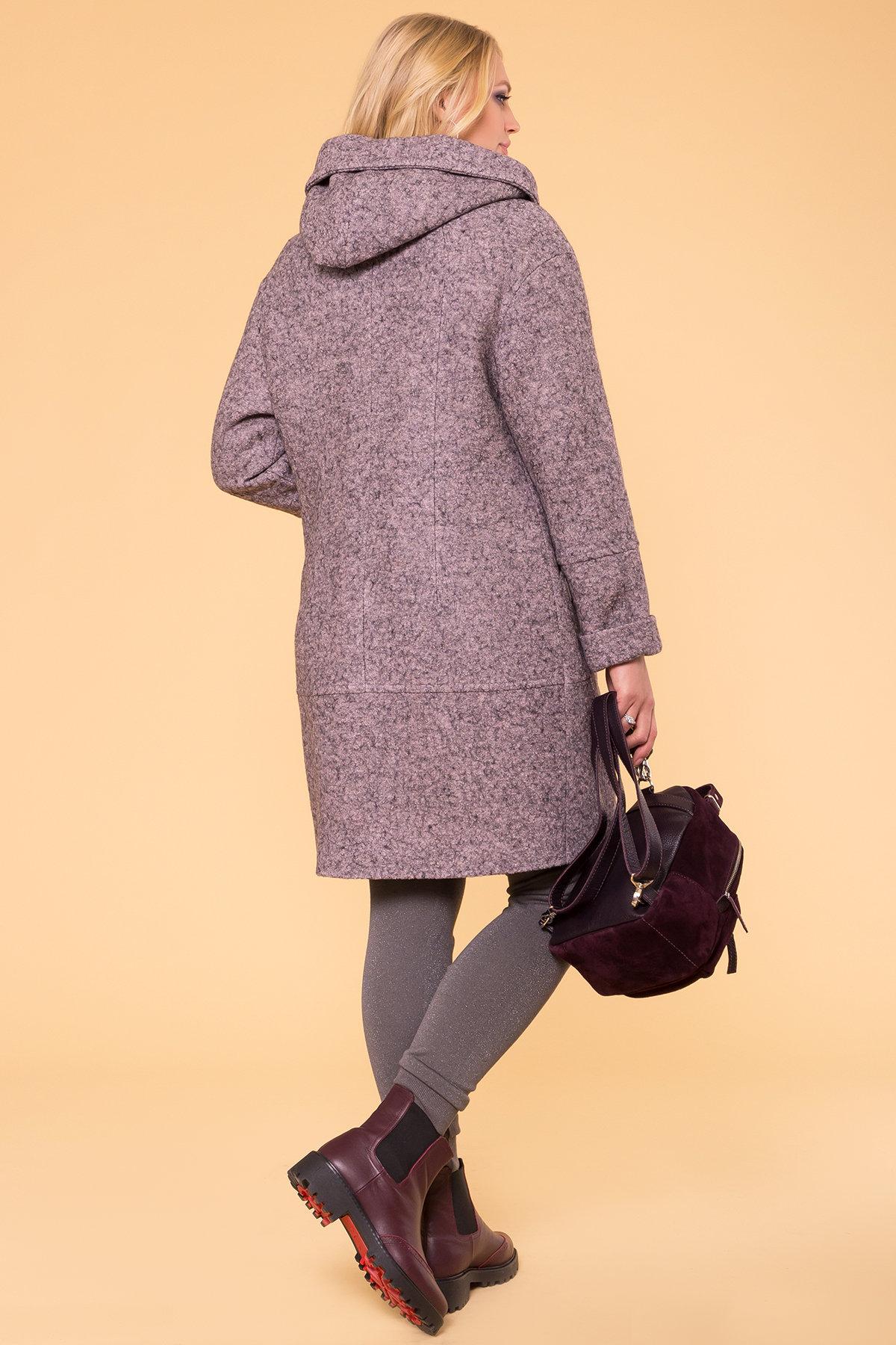 Пальто зима с капюшоном Анита Donna 3720 Цвет: Серо-розовый LW-25