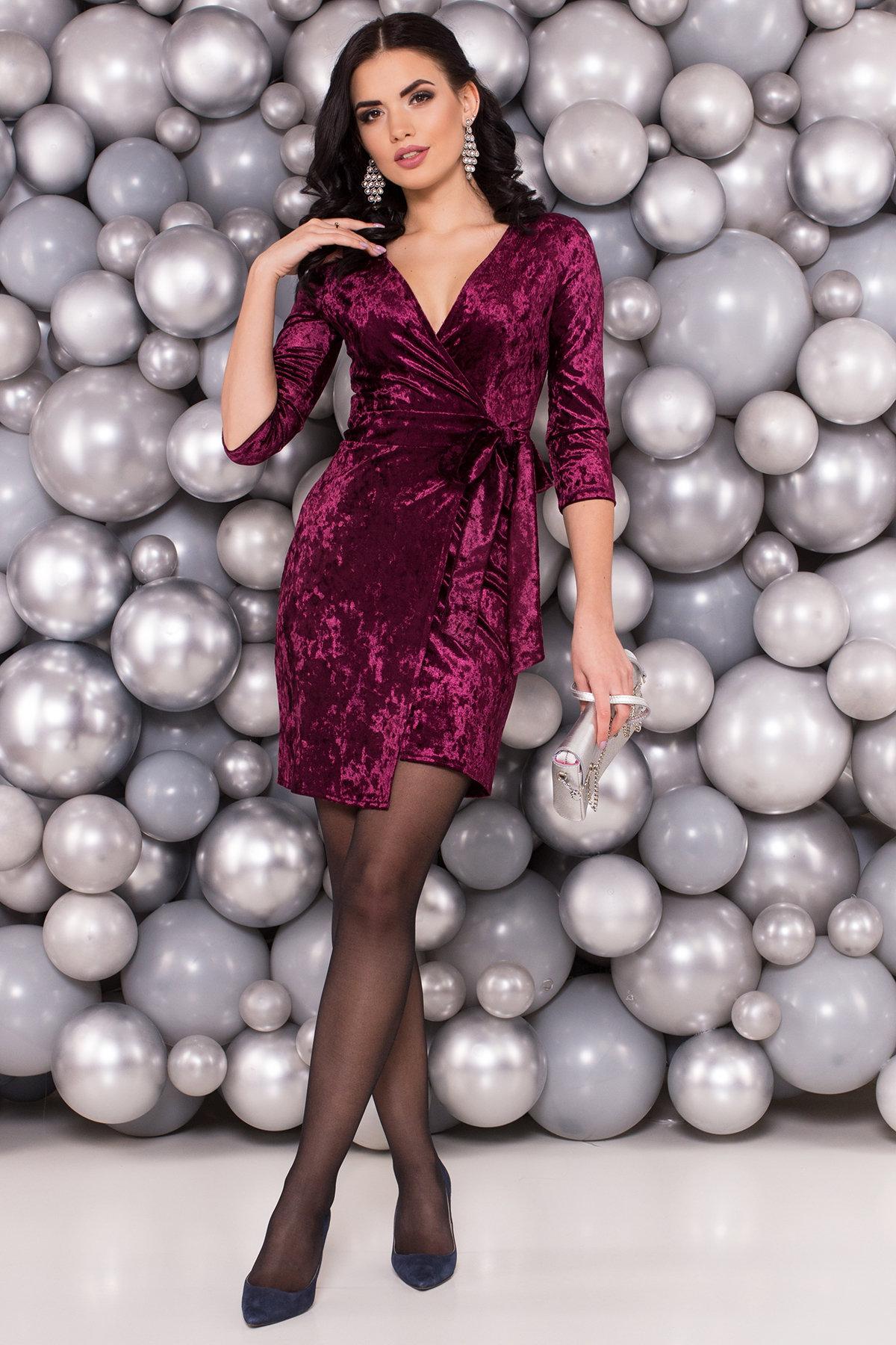 Платье Бонни SLIM велюр 6018 Цвет: Фиолетовый