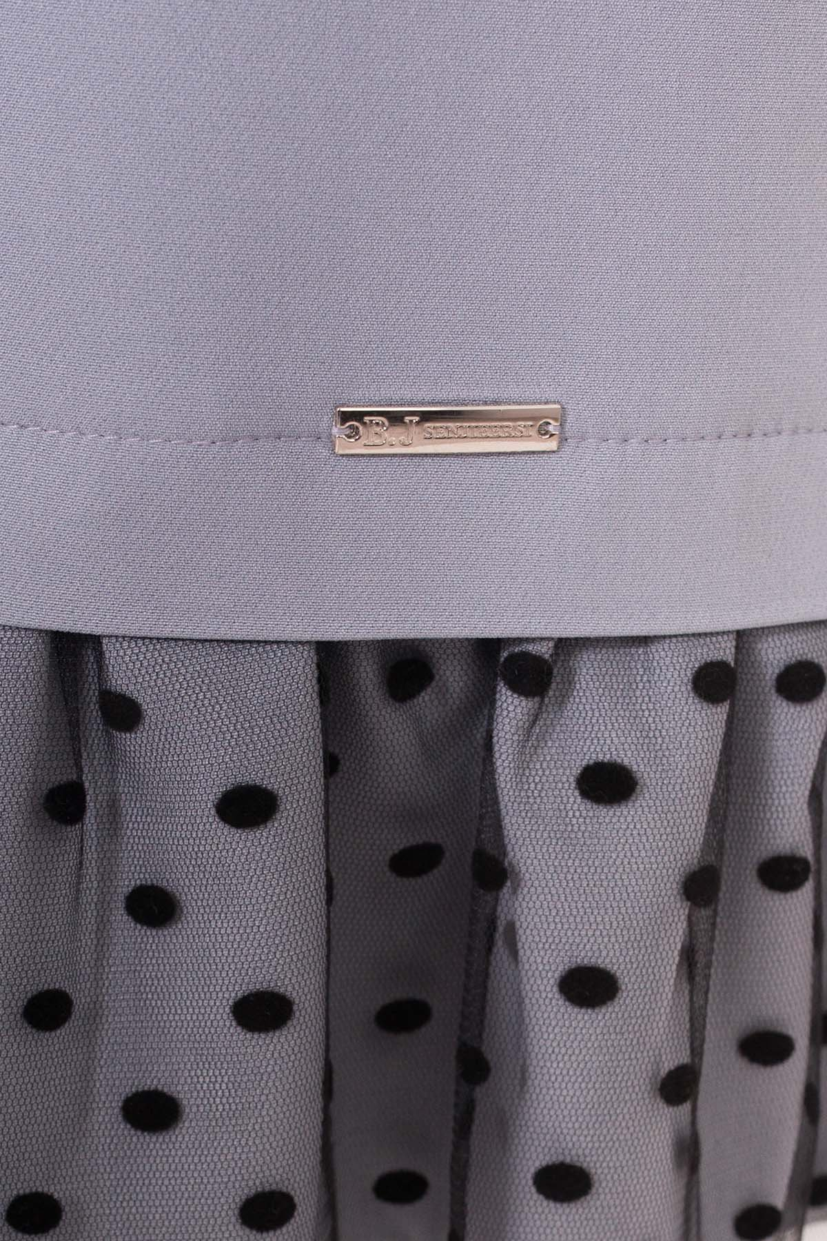 Платье Грейси 5949 АРТ. 40566 Цвет: Серый - фото 4, интернет магазин tm-modus.ru