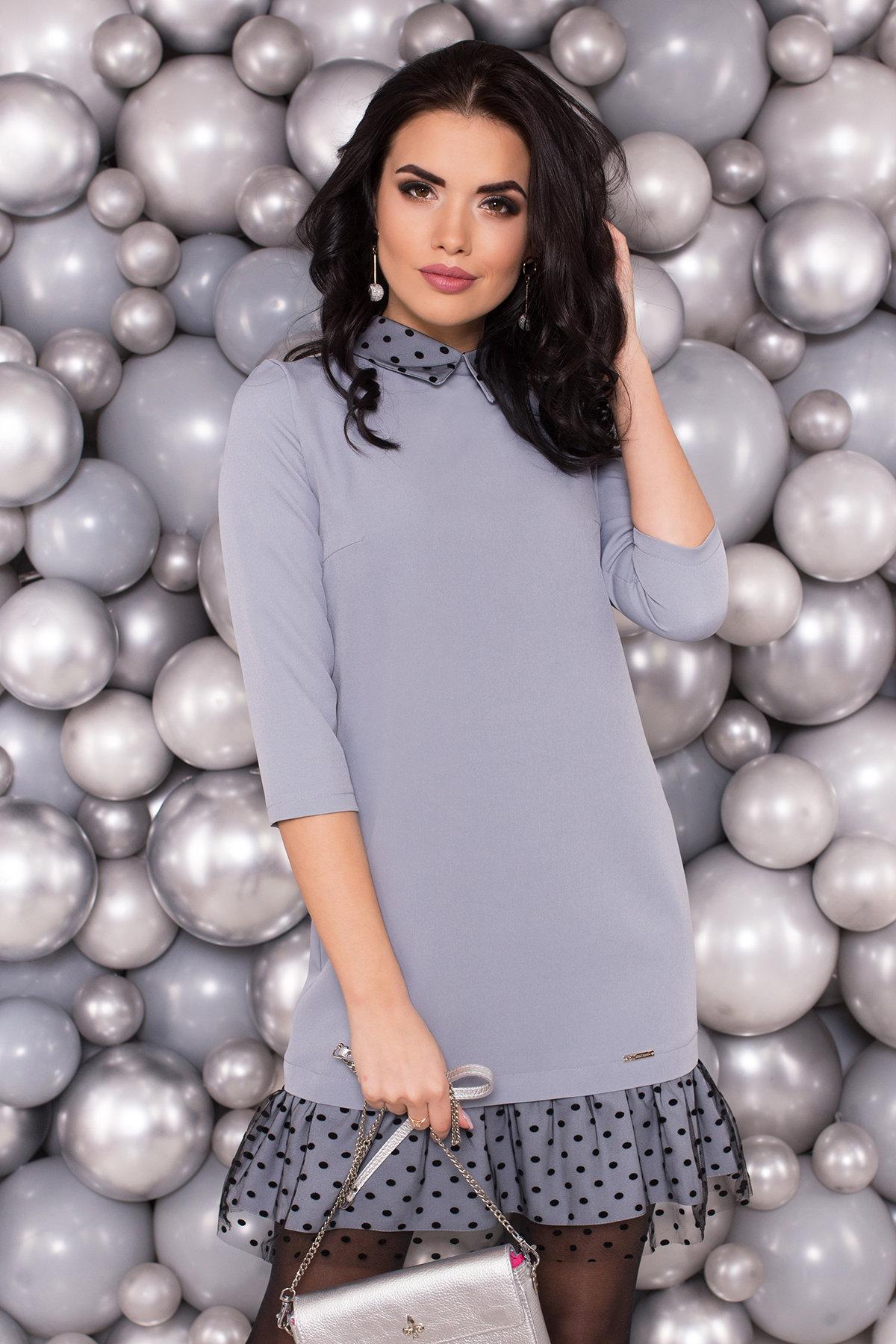 Платье Грейси 5949 АРТ. 40566 Цвет: Серый - фото 3, интернет магазин tm-modus.ru
