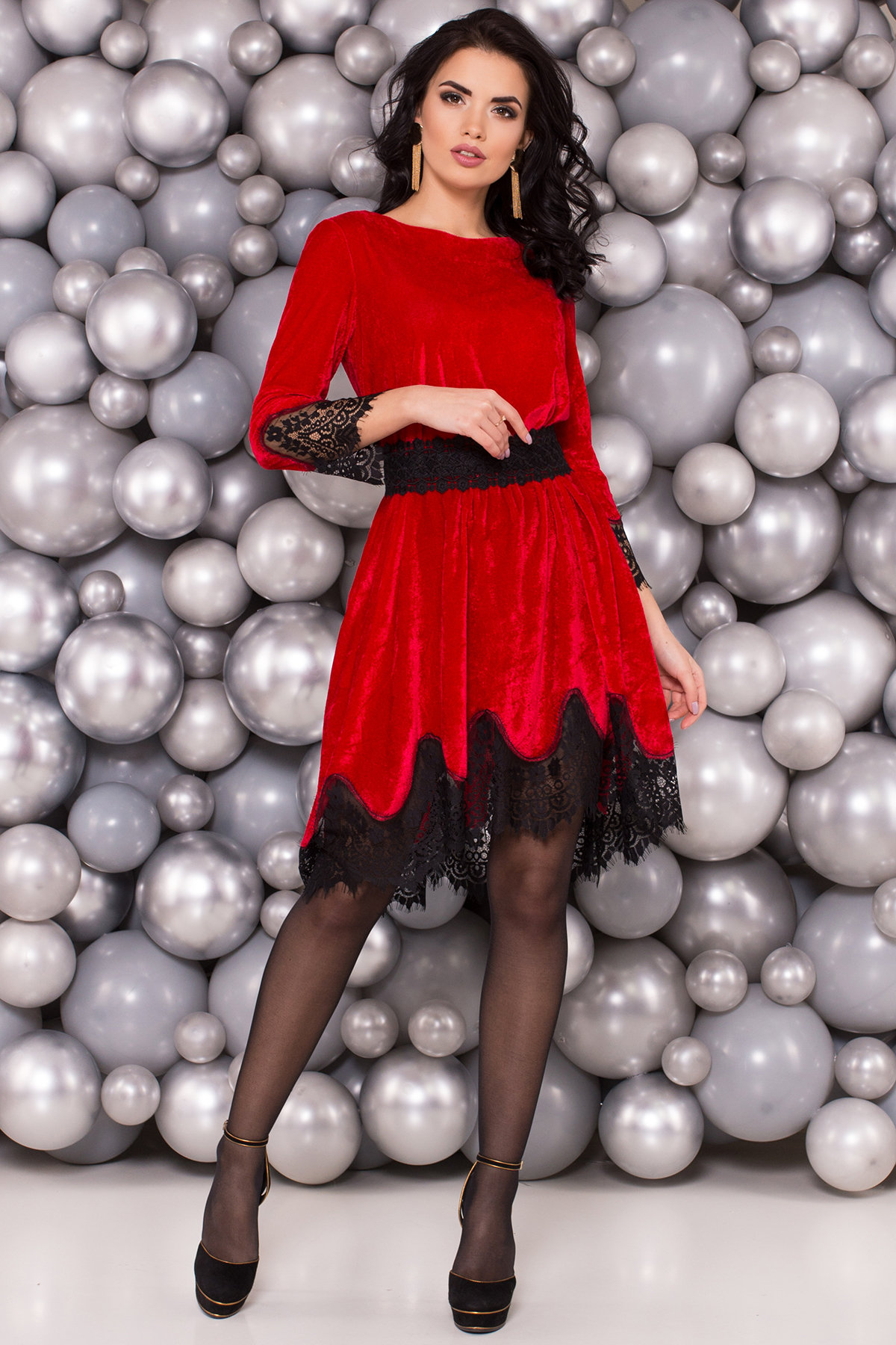 Платье Виолет 4113 Цвет: Красный