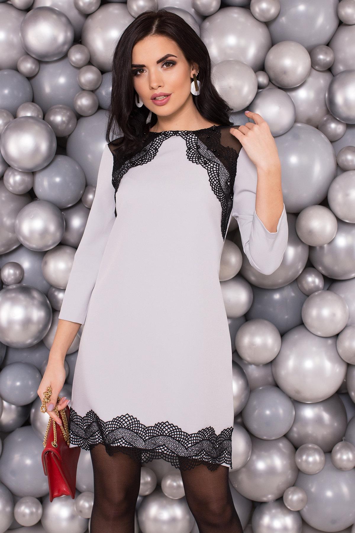 Платье Алексис 5517 АРТ. 37614 Цвет: Серый - фото 3, интернет магазин tm-modus.ru