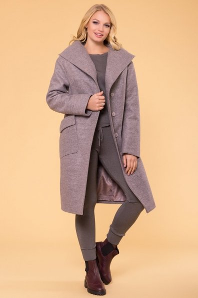 Пальто зима Анджи DONNA 5612 Цвет: Серо-розовый 19