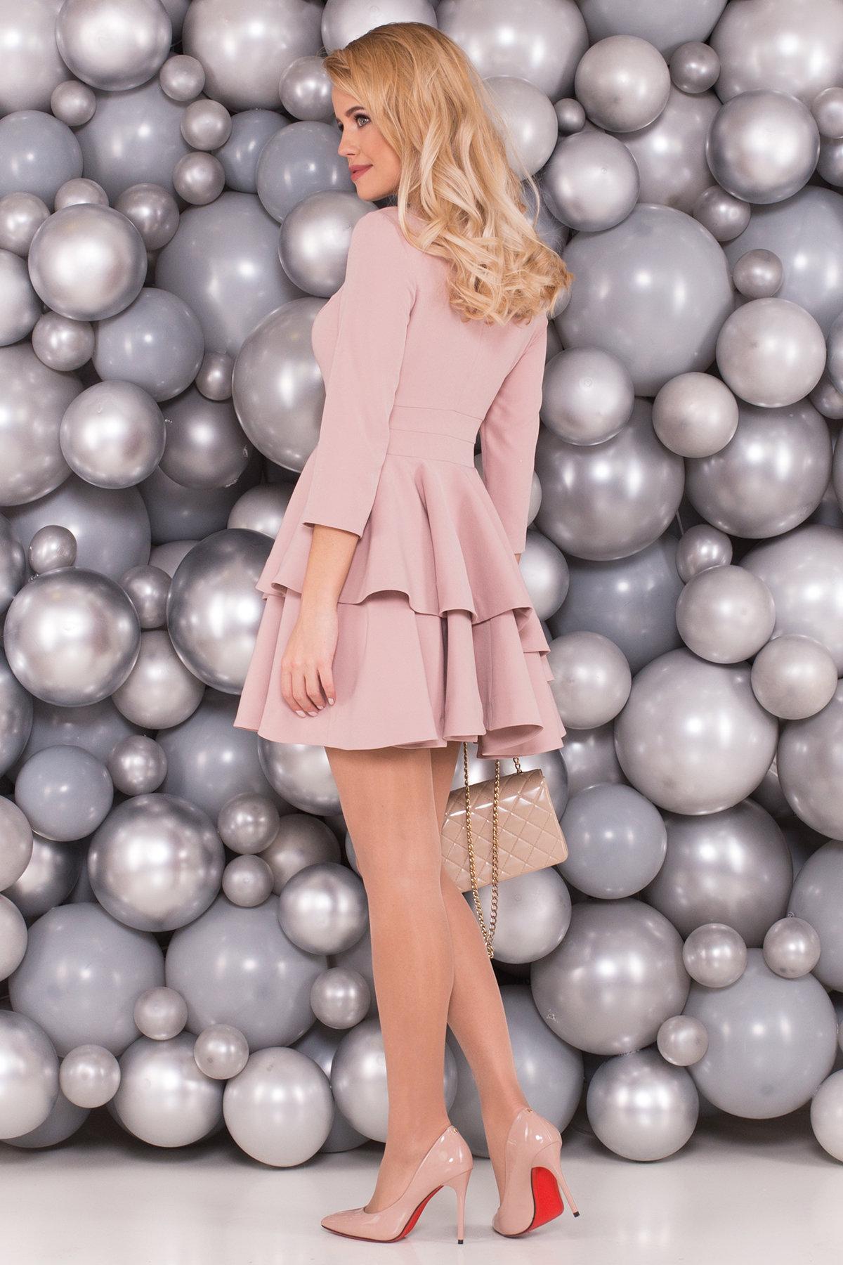 Платье Симур 5913 АРТ. 40635 Цвет: Пудра - фото 2, интернет магазин tm-modus.ru