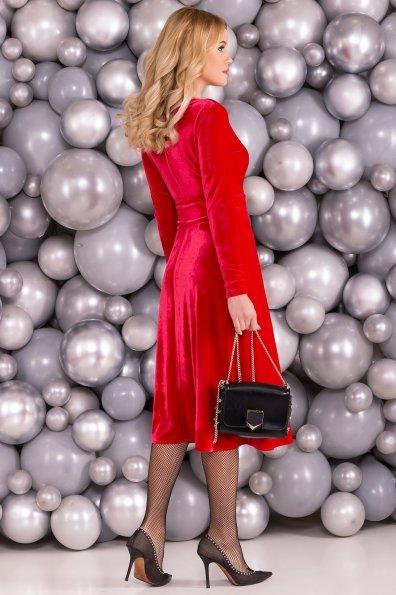 Платье Жозель миди велюр 6033 Цвет: Красный