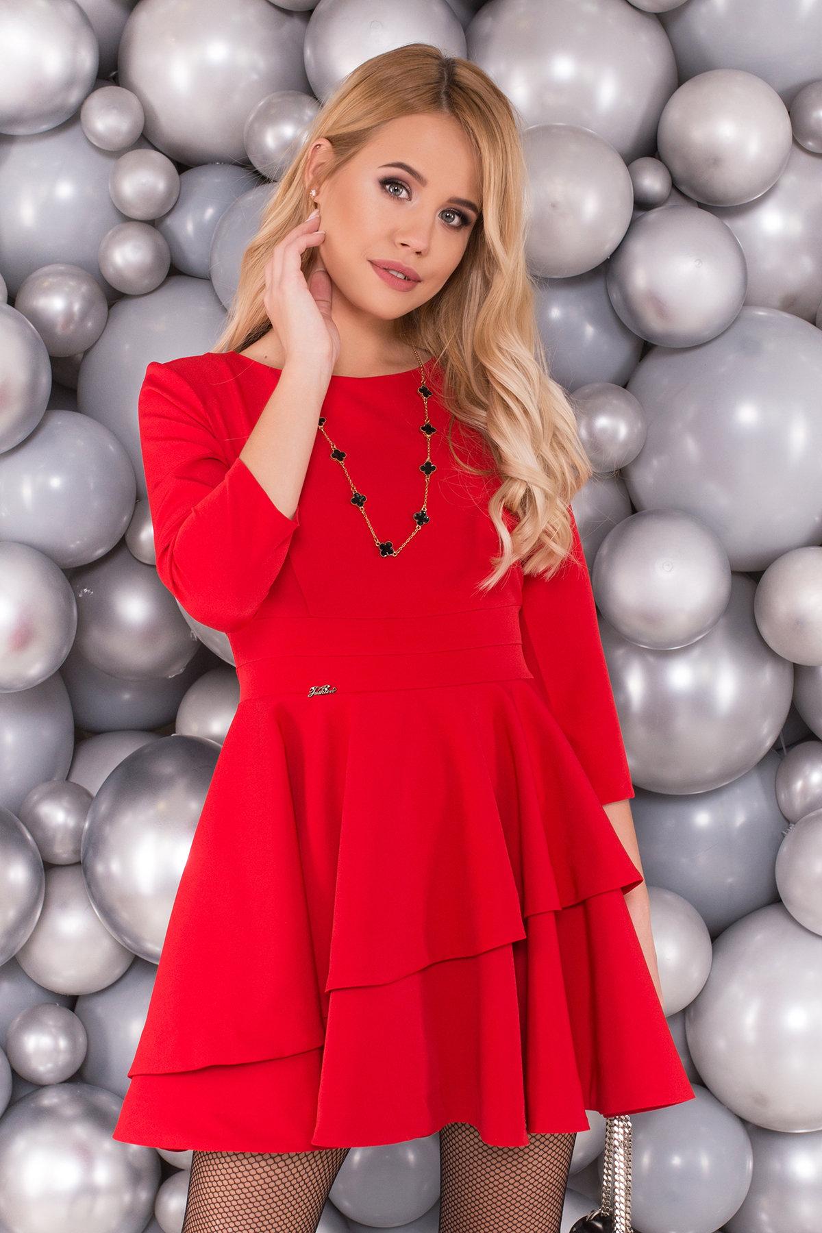 Платье Симур 5913 АРТ. 40634 Цвет: Красный - фото 3, интернет магазин tm-modus.ru