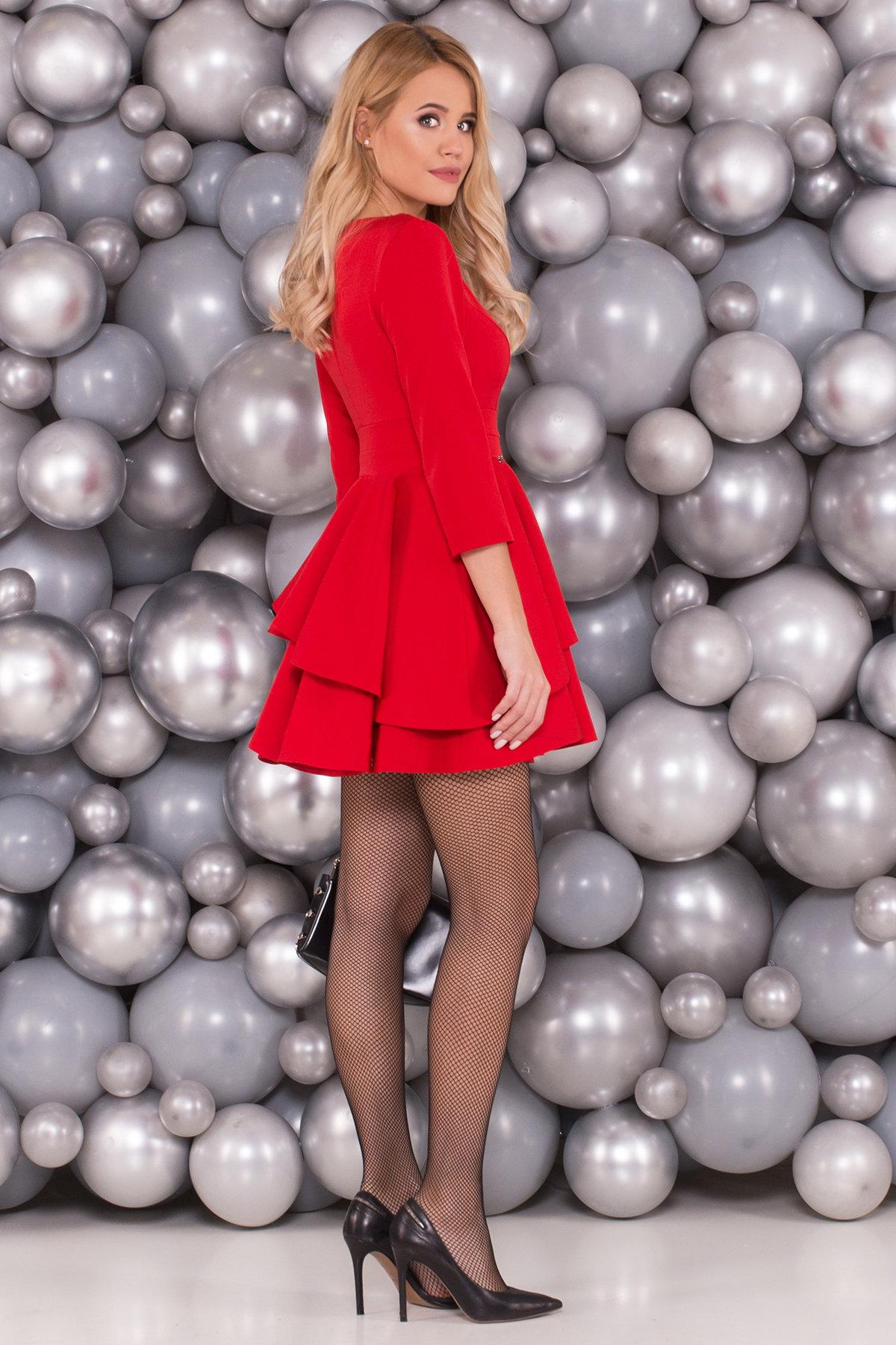 Платье Симур 5913 АРТ. 40634 Цвет: Красный - фото 2, интернет магазин tm-modus.ru