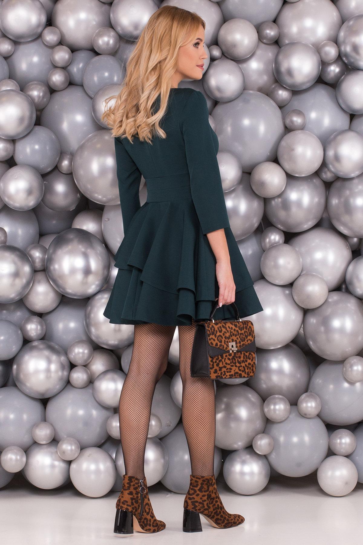 Платье Симур 5913 АРТ. 40633 Цвет: Т.зеленый - фото 2, интернет магазин tm-modus.ru