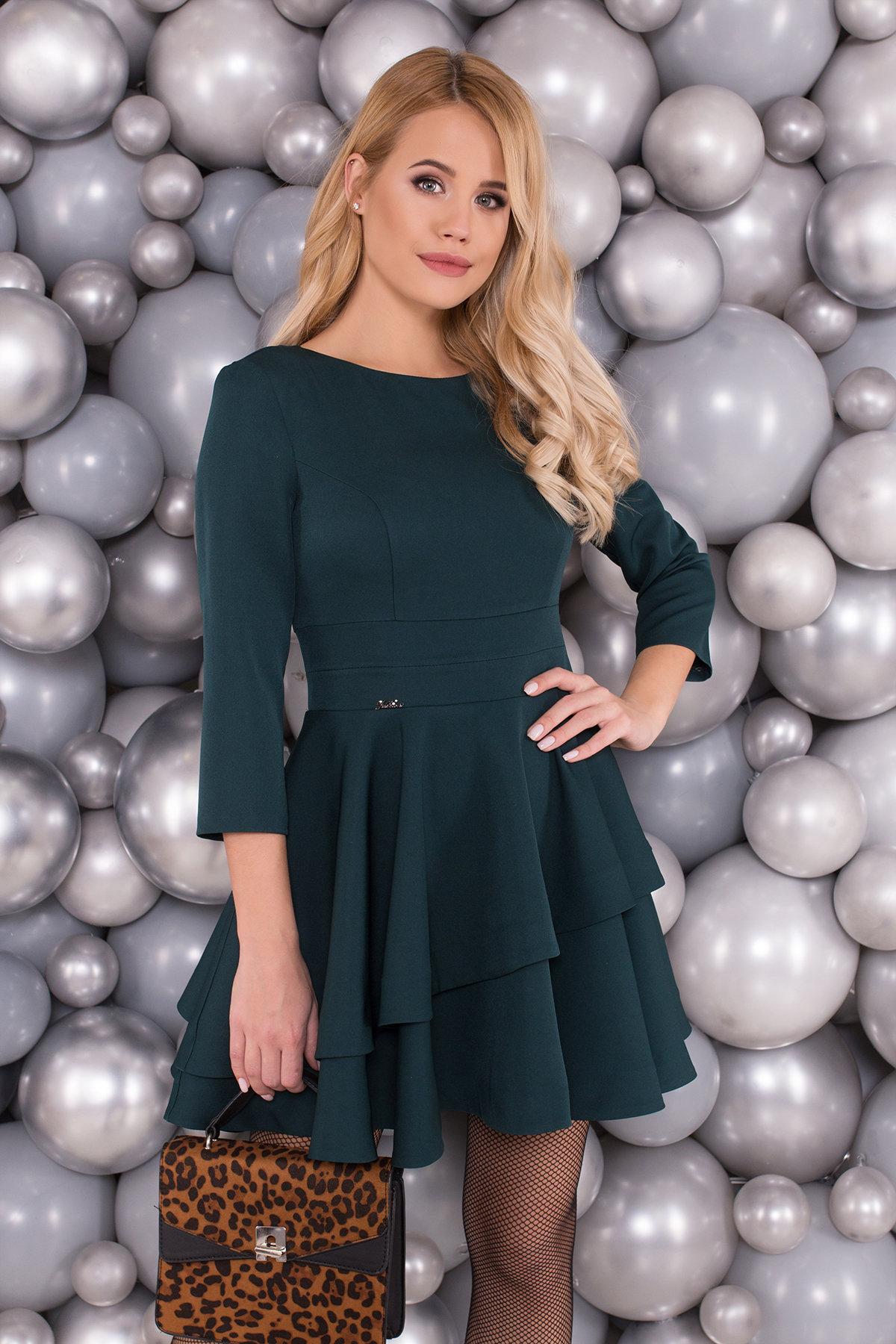 Платье Симур 5913 АРТ. 40633 Цвет: Т.зеленый - фото 3, интернет магазин tm-modus.ru