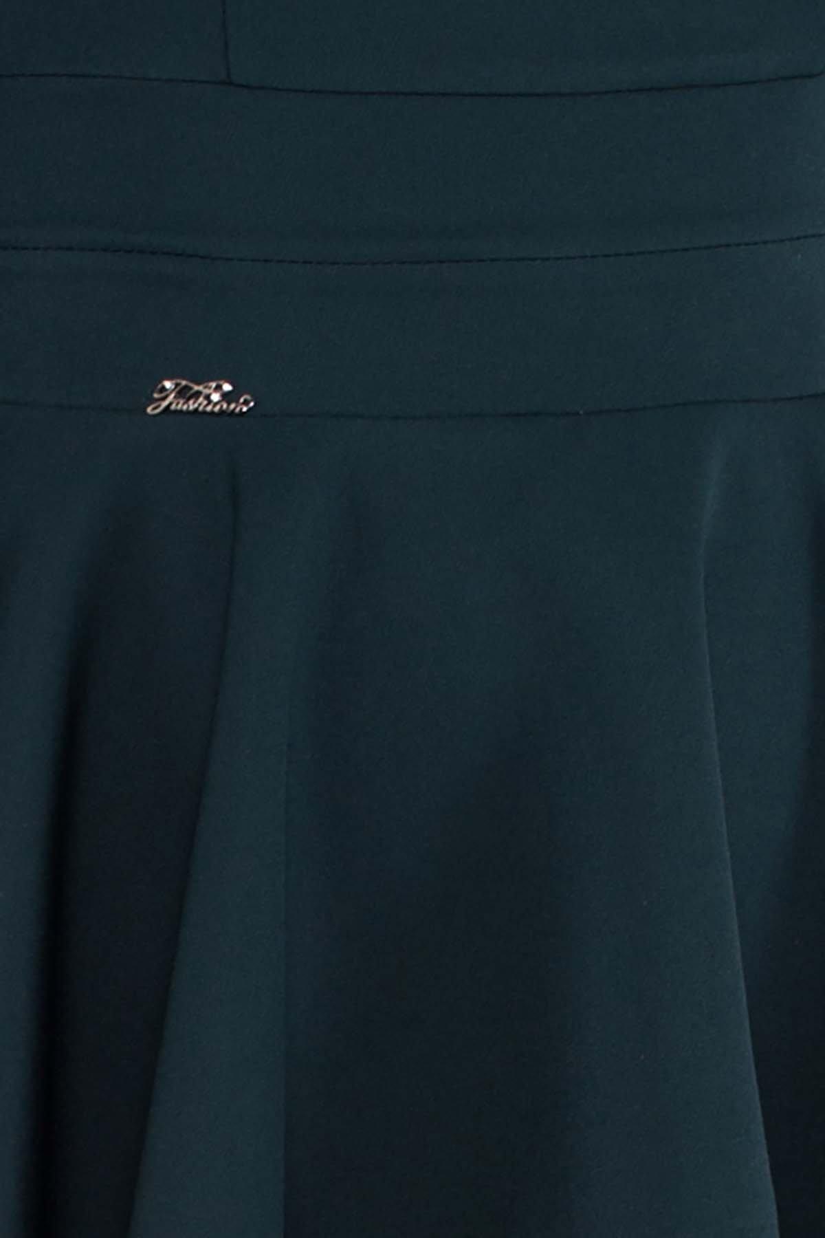 Платье Симур 5913 АРТ. 40633 Цвет: Т.зеленый - фото 4, интернет магазин tm-modus.ru
