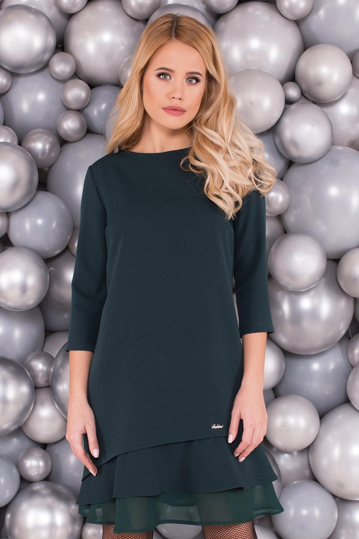 Платье Холли 5952 АРТ. 40638 Цвет: Т.зеленый - фото 3, интернет магазин tm-modus.ru