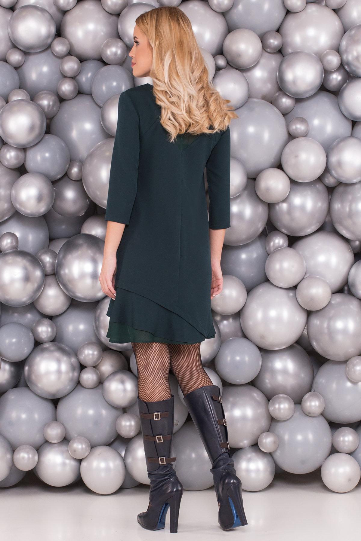 Платье Холли 5952 АРТ. 40638 Цвет: Т.зеленый - фото 2, интернет магазин tm-modus.ru