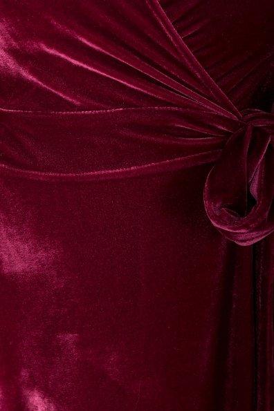 Платье Жозель миди велюр 6033 Цвет: Марсала