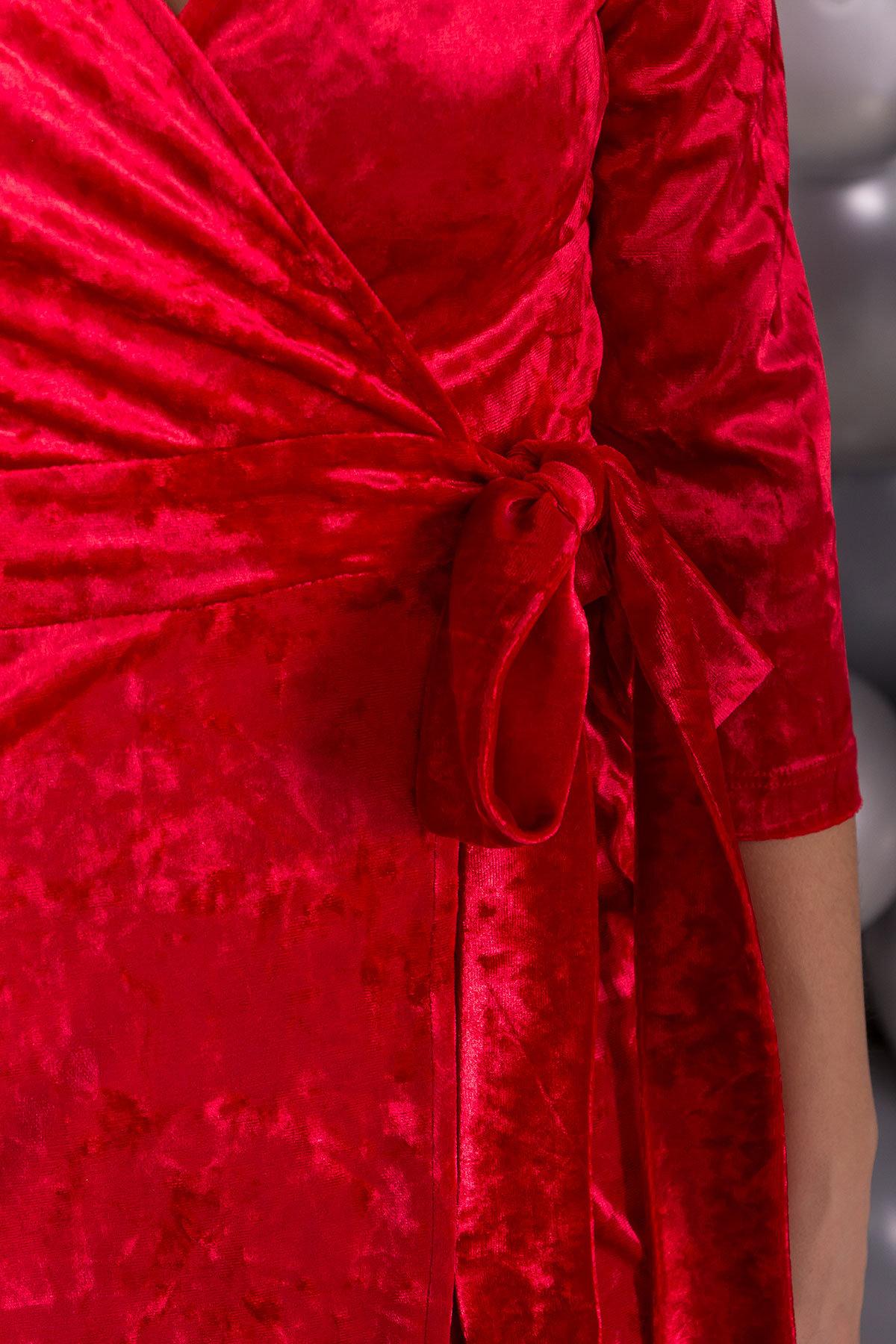 Платье Бонни SLIM велюр 6018 Цвет: Красный