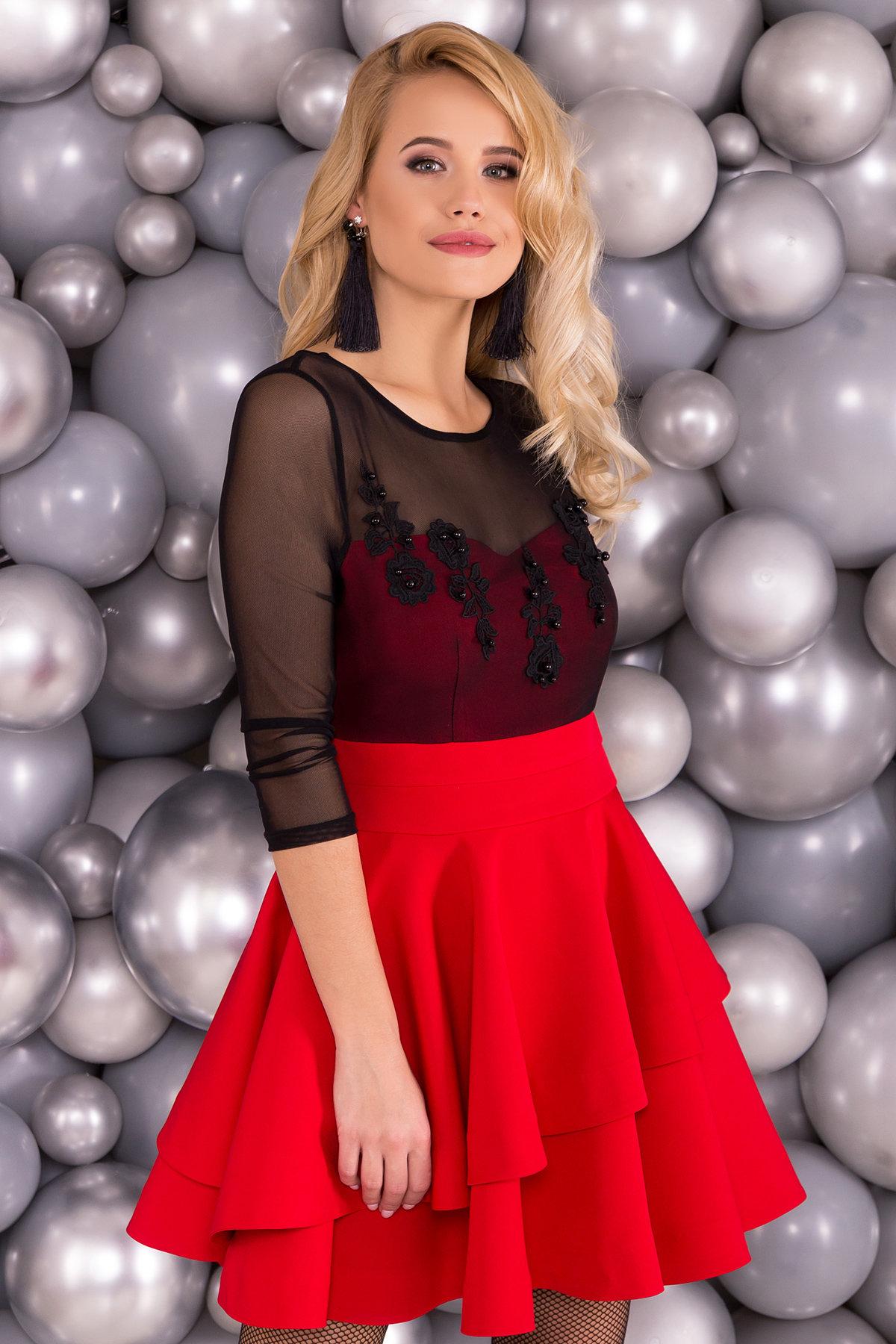 Платье Меган 5914 Цвет: Красный/черный
