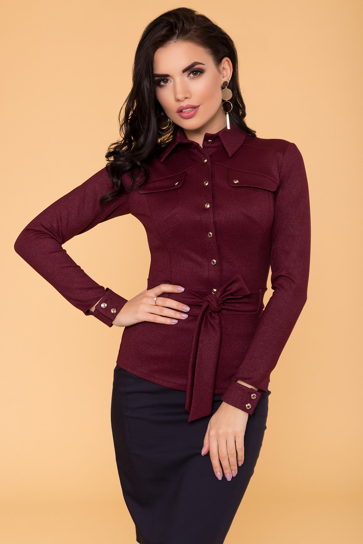 Рубашка Соня 6116 Цвет: Марсала