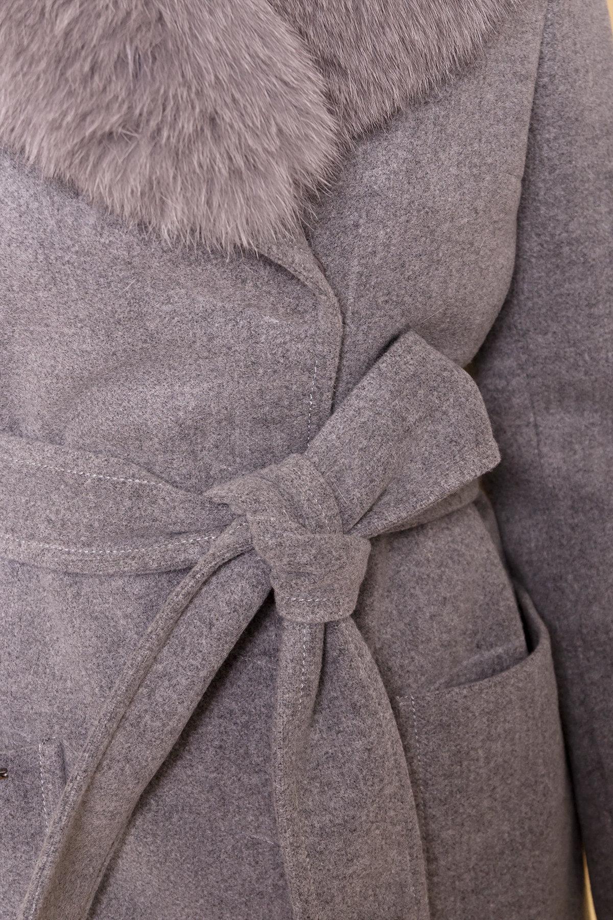 Пальто зима Мила 5498 Цвет: Серый 18