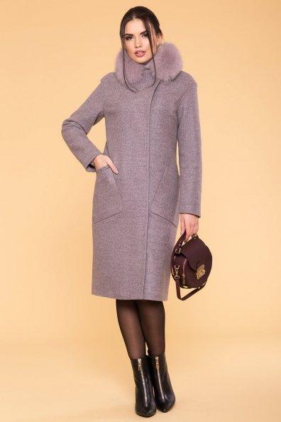 Пальто зима Анатес лайт 5570 Цвет: Серый/розовый