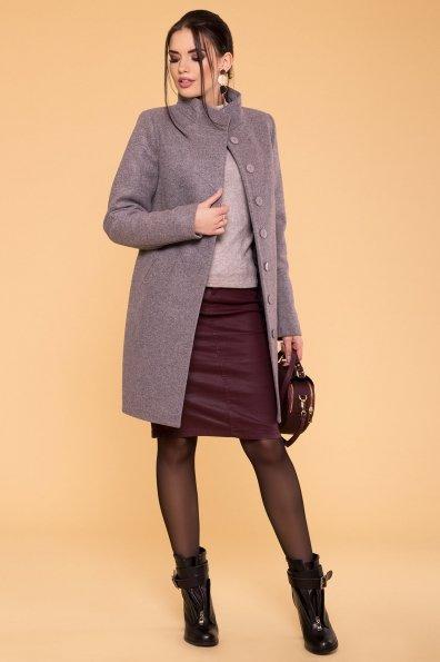 Пальто зима Фортуна 5802 Цвет: Серо-розовый 19
