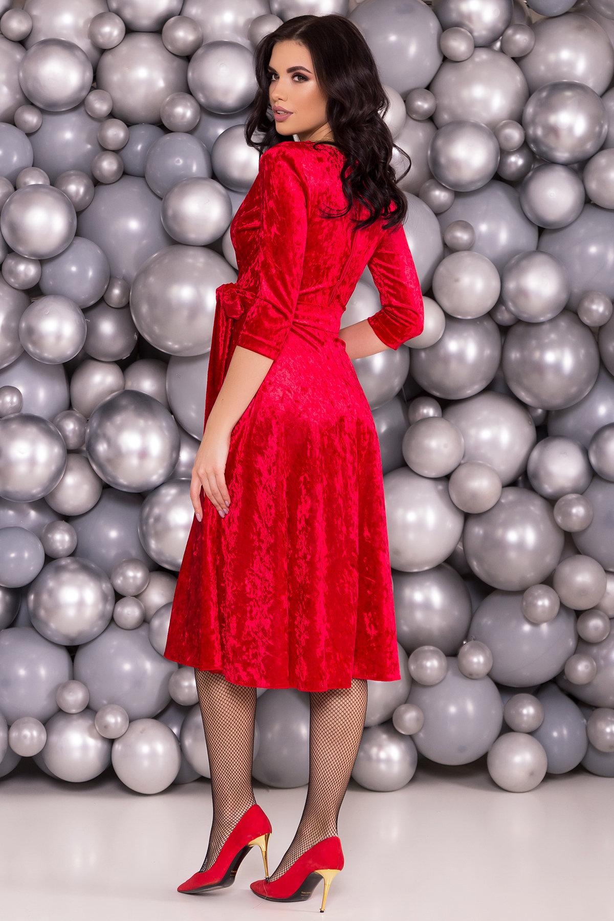 Платье миди Келли 6094 АРТ. 40793 Цвет: Красный - фото 2, интернет магазин tm-modus.ru