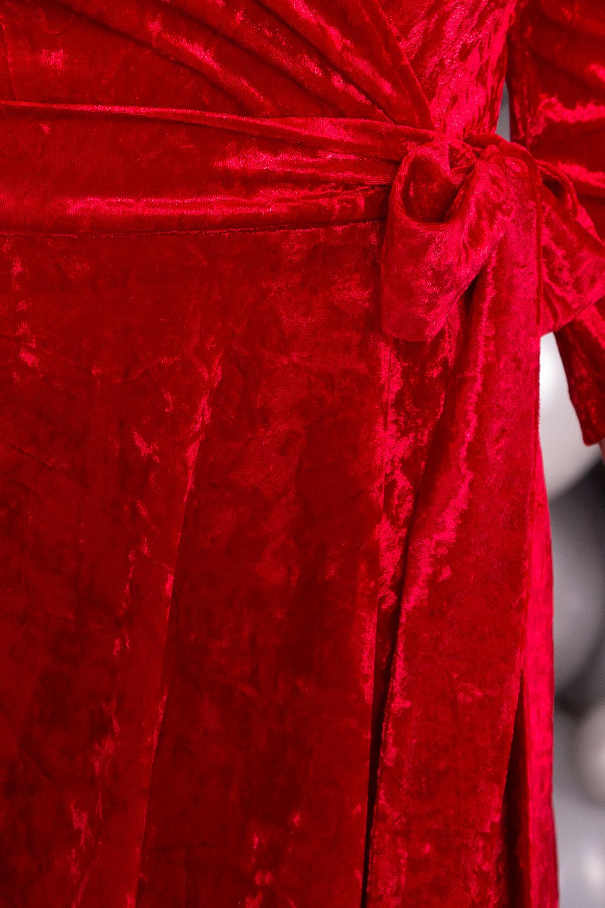 Платье миди Келли 6094 АРТ. 40793 Цвет: Красный - фото 4, интернет магазин tm-modus.ru