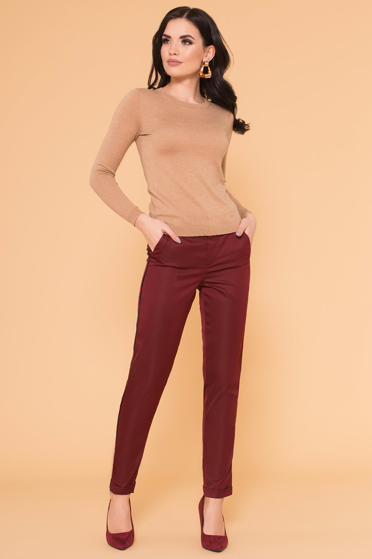 женские брюки от производителя Брюки с ломпасами Стин 5963