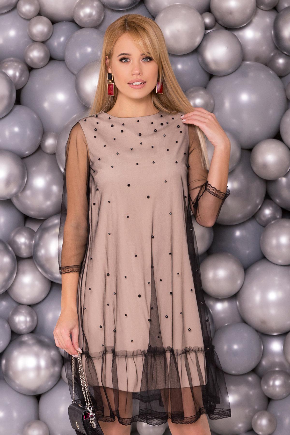 Платье Леона 5997 Цвет: Бежевый
