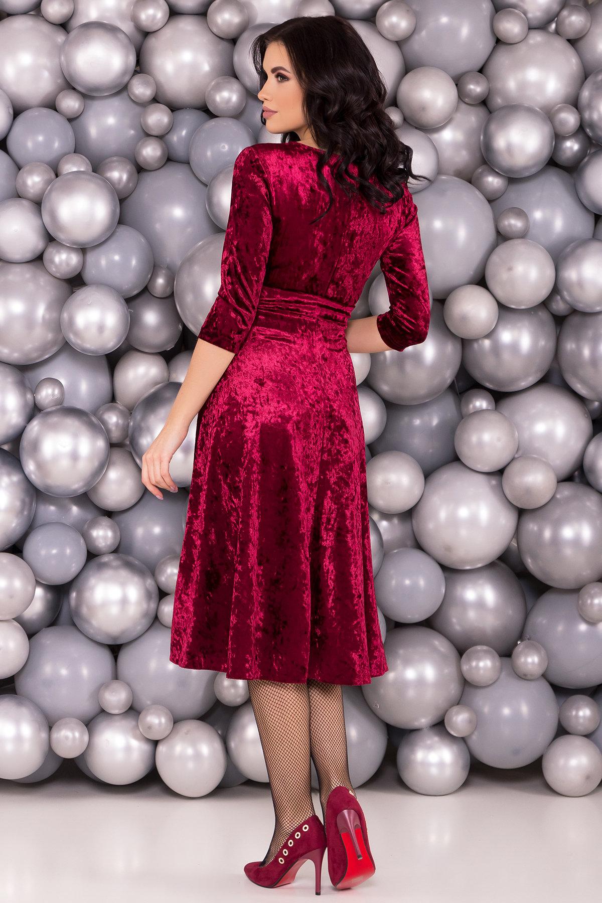 Платье миди Келли 6094 Цвет: Марсала