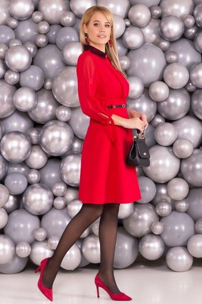 Платье Берли 5953 Цвет: Красный/красный