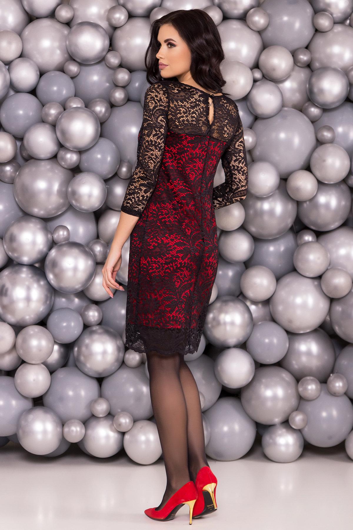 Платье Винтаж 6166 Цвет: Черный/красный