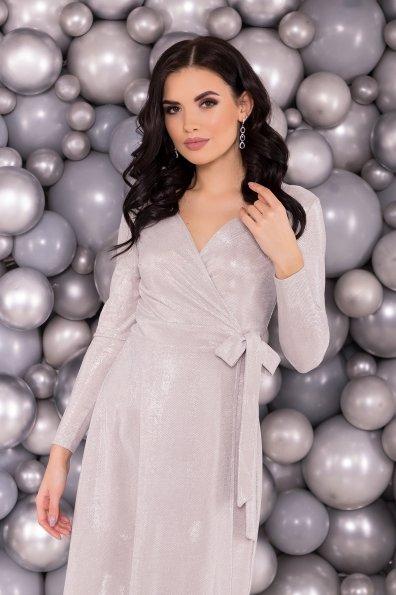 Платье Жозель миди люрекс 6020 Цвет: Серебро