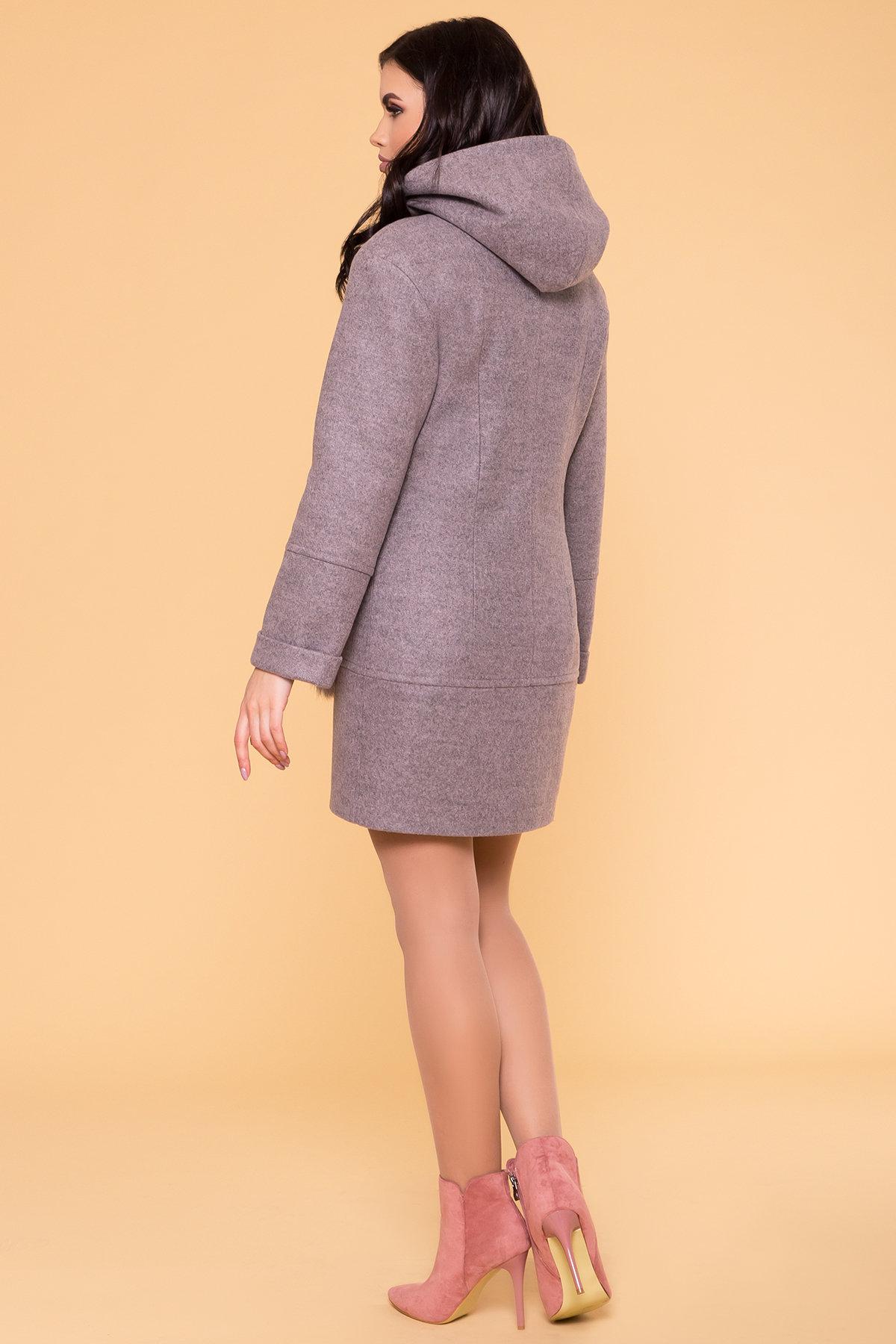 Зимнее пальто с меховыми карманами Анита 3820 АРТ. 40745 Цвет: Серо-розовый 19 - фото 2, интернет магазин tm-modus.ru