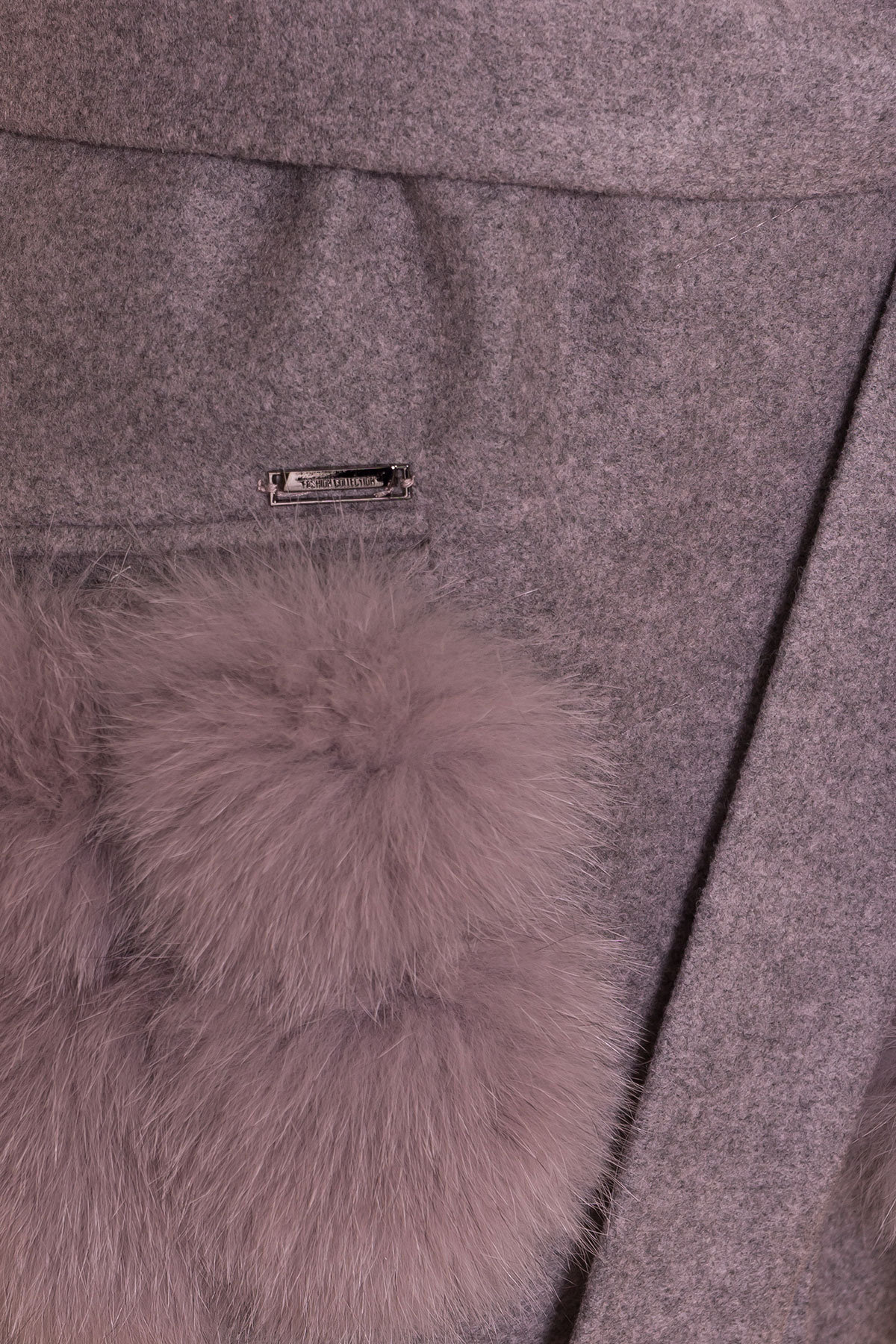 Зимнее пальто с меховыми карманами Анита 3820 АРТ. 40745 Цвет: Серо-розовый 19 - фото 6, интернет магазин tm-modus.ru