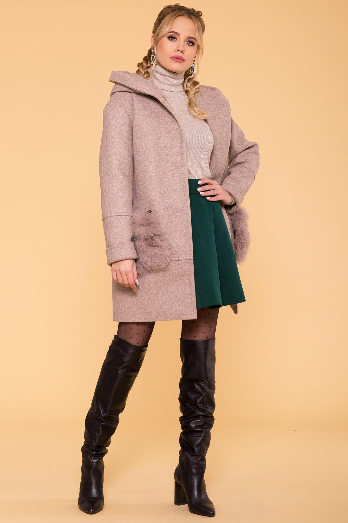 Пальто зима Анита 5752 АРТ. 40712 Цвет: Бежевый 28/1 - фото 3, интернет магазин tm-modus.ru