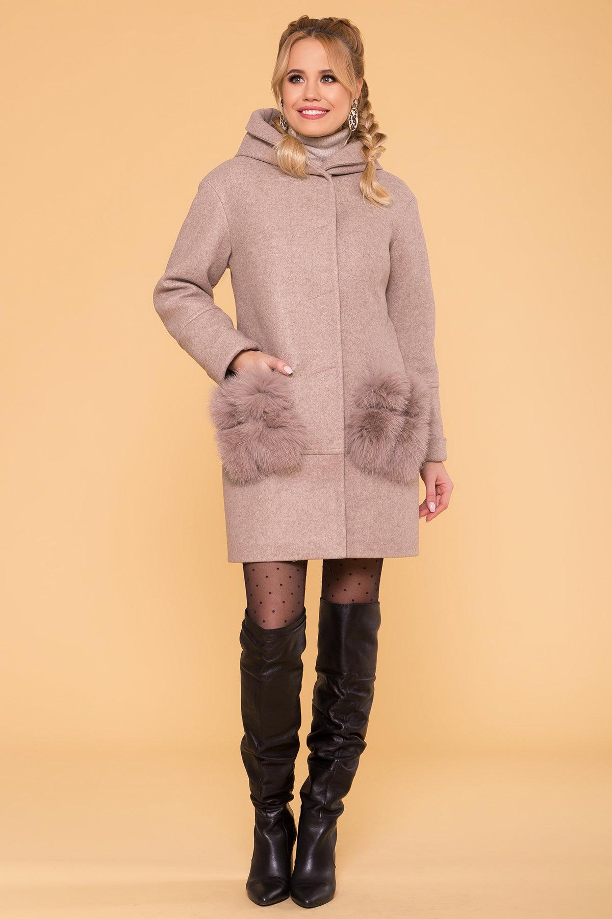 Пальто зима Анита 5752 АРТ. 40712 Цвет: Бежевый 28/1 - фото 4, интернет магазин tm-modus.ru
