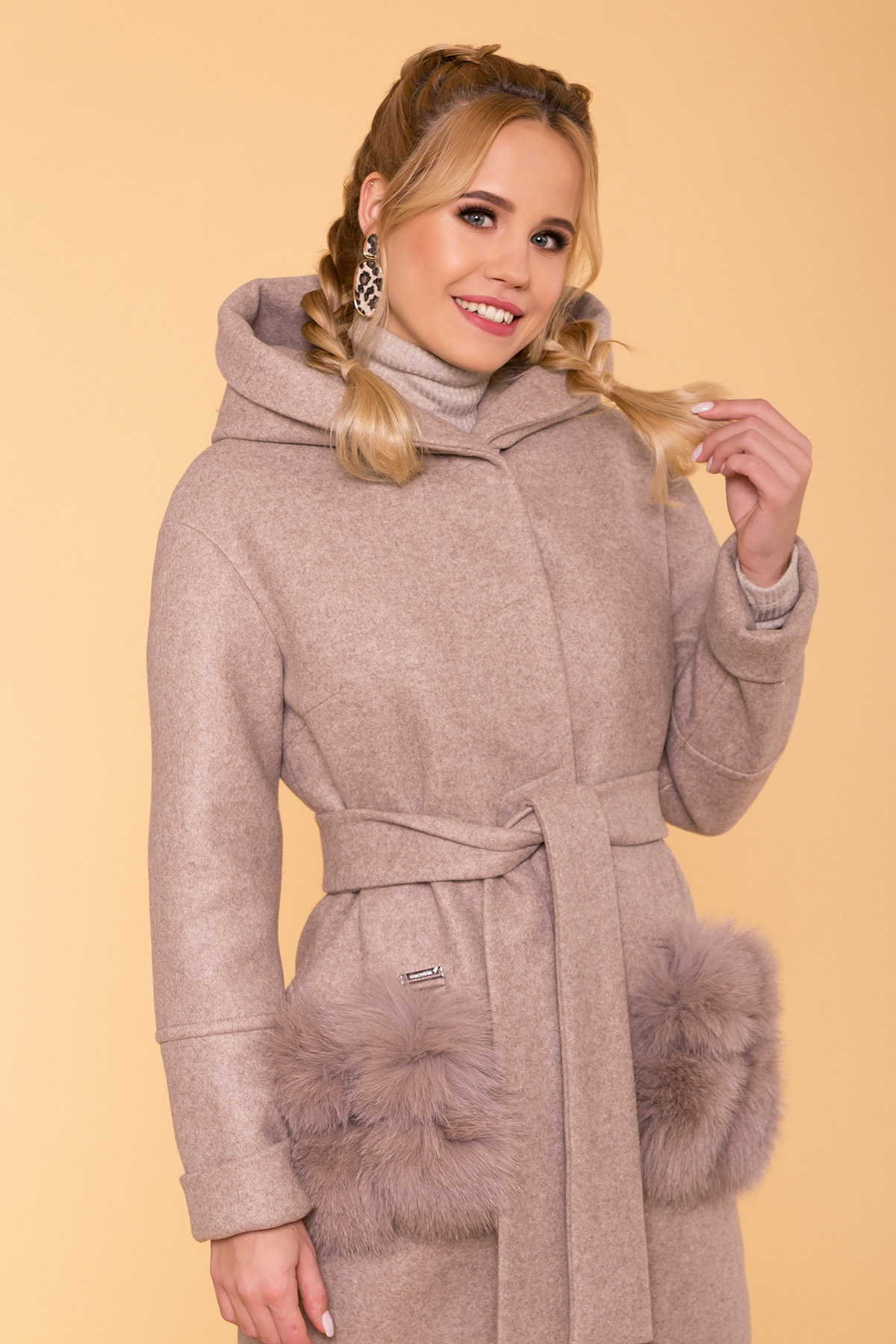 Пальто зима Анита 5752 АРТ. 40712 Цвет: Бежевый 28/1 - фото 5, интернет магазин tm-modus.ru