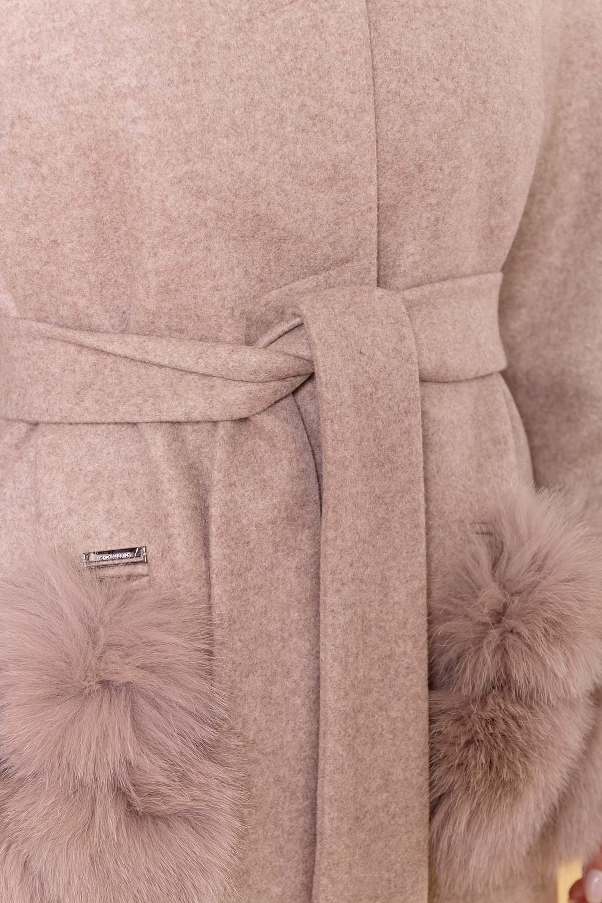 Пальто зима Анита 5752 АРТ. 40712 Цвет: Бежевый 28/1 - фото 6, интернет магазин tm-modus.ru