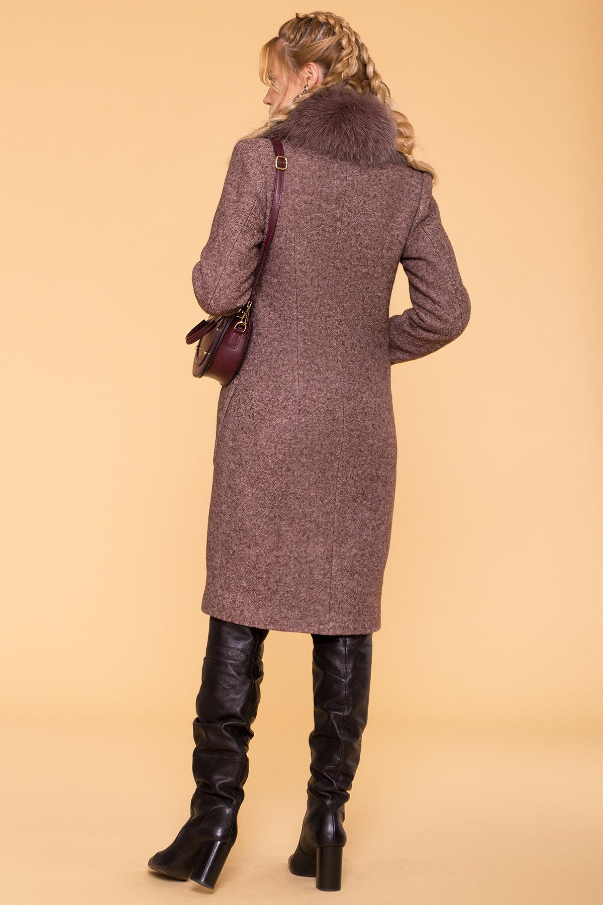 Пальто зима Габриэлла 6064 Цвет: Кофе LW-4