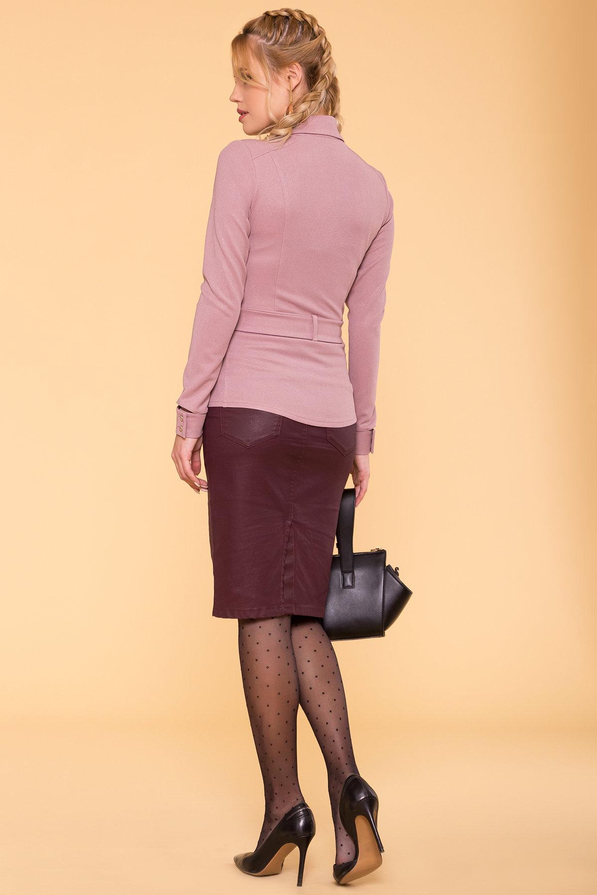 Повседневная рубашка из трикотажа Соня 6116 АРТ. 40842 Цвет: Чайная роза - фото 2, интернет магазин tm-modus.ru