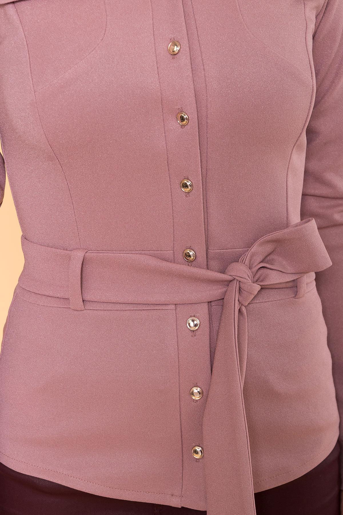 Повседневная рубашка из трикотажа Соня 6116 АРТ. 40842 Цвет: Чайная роза - фото 4, интернет магазин tm-modus.ru