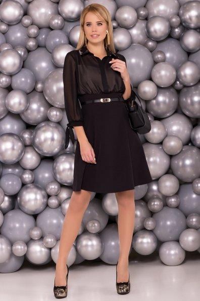 Платье Берли 5953 Цвет: Черный/бежевый