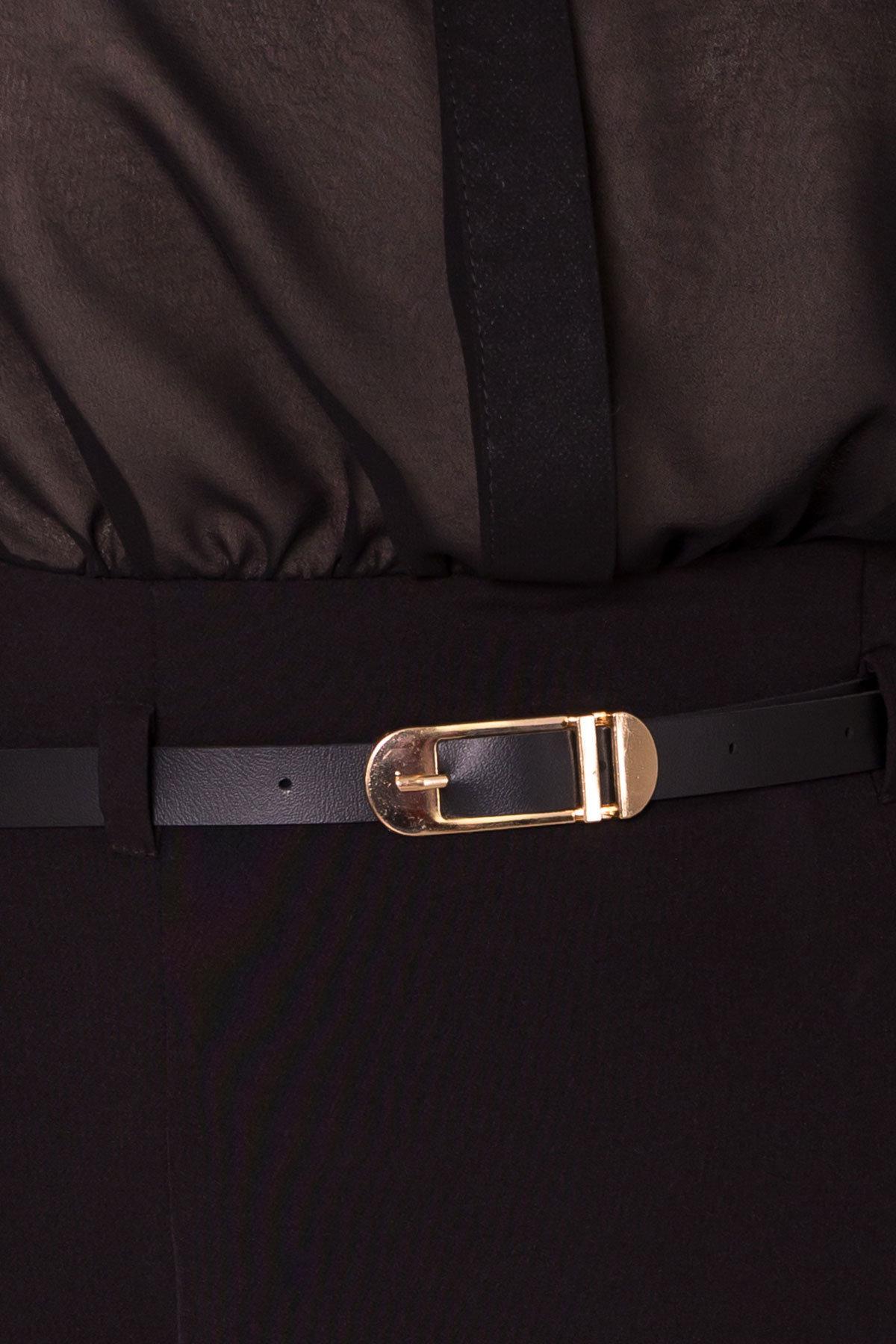 Платье Берли 5953 АРТ. 40641 Цвет: Черный/бежевый - фото 4, интернет магазин tm-modus.ru