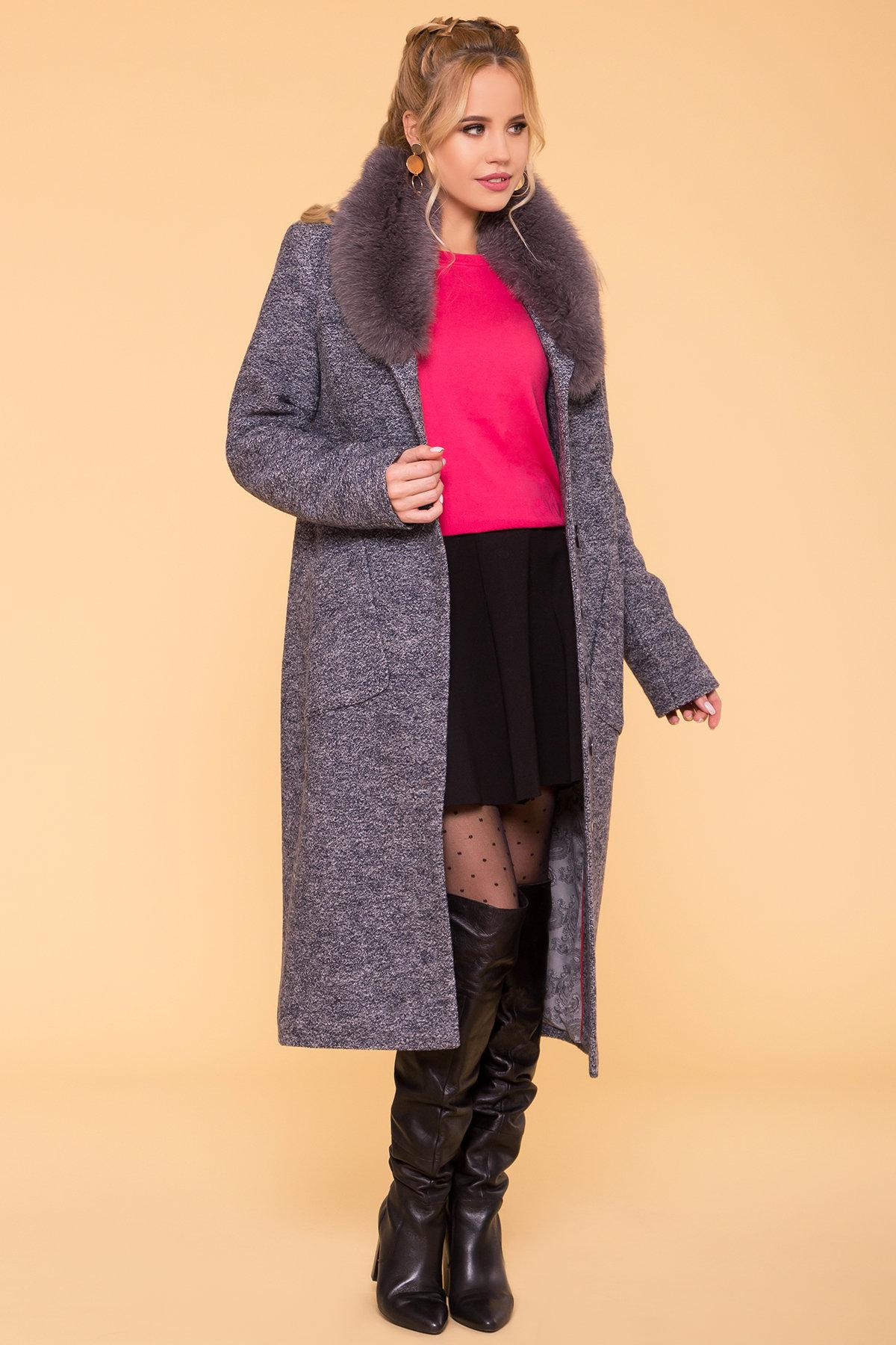 Пальто зима Габриэлла 3717 Цвет: Серый темный LW-22