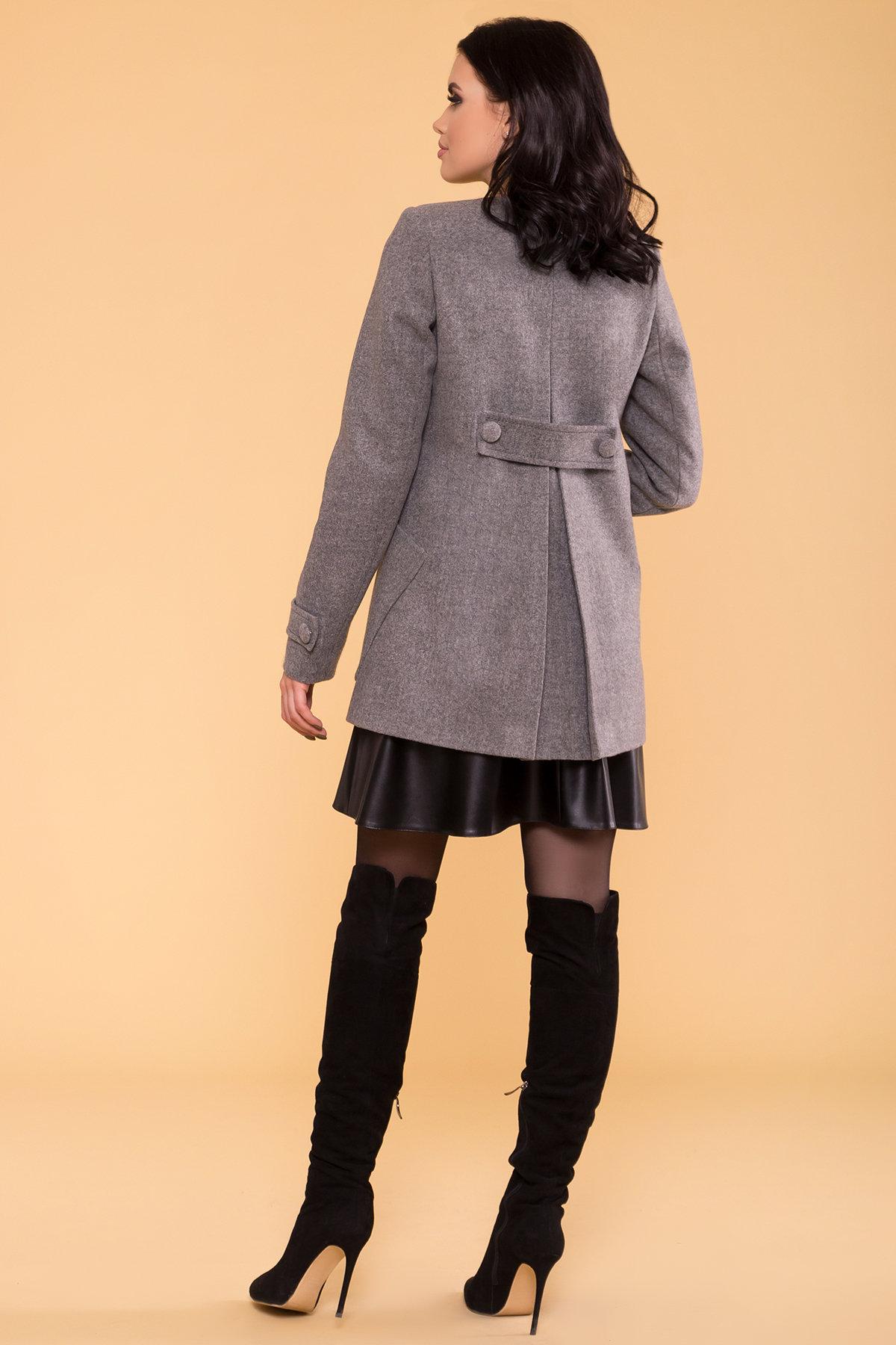 Пальто Латте 5636 АРТ. 37736 Цвет: Серый 18 - фото 2, интернет магазин tm-modus.ru