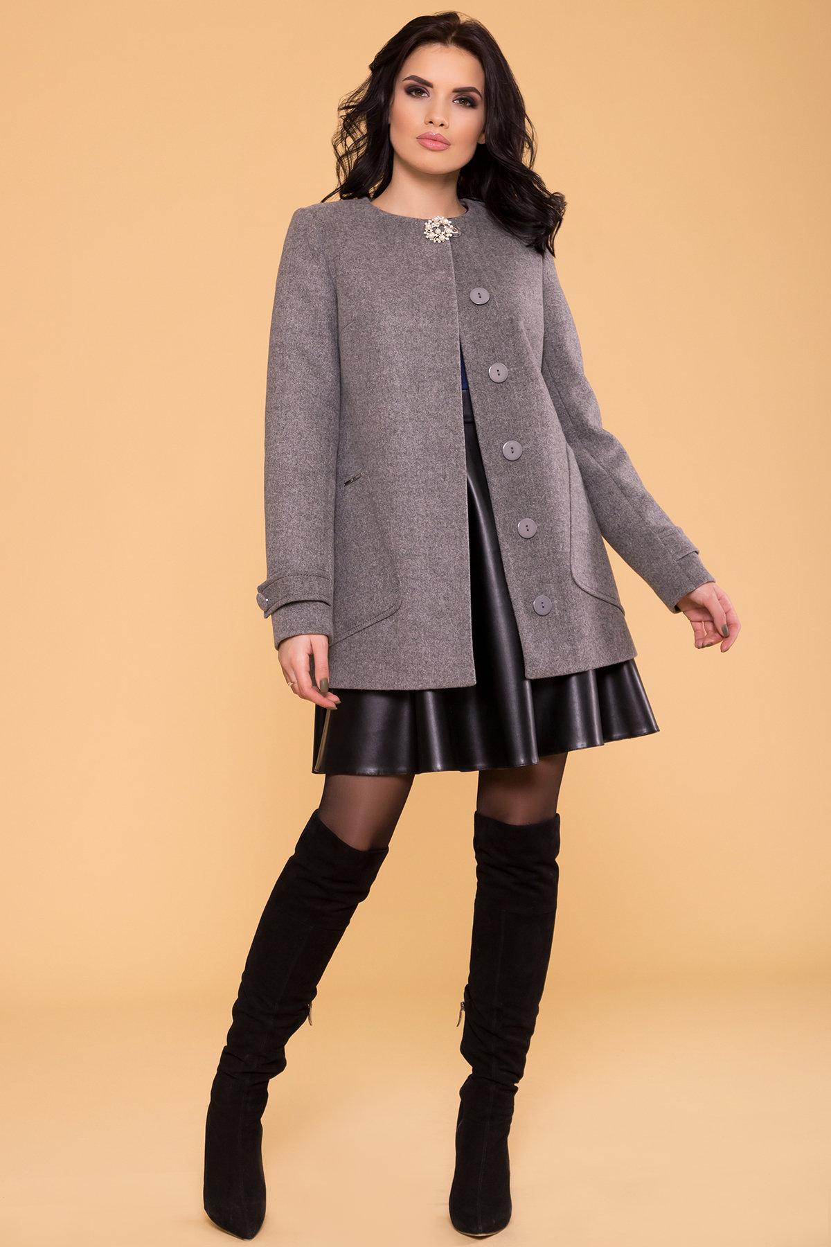 Пальто Латте 5636 АРТ. 37736 Цвет: Серый 18 - фото 3, интернет магазин tm-modus.ru