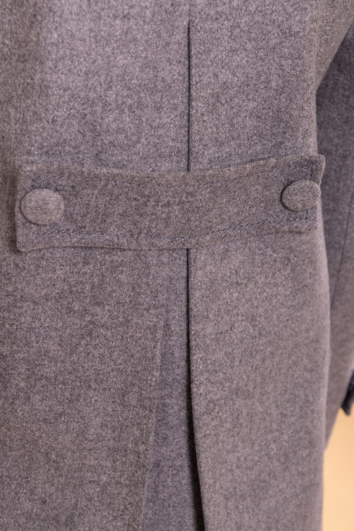 Пальто Латте 5636 АРТ. 37736 Цвет: Серый 18 - фото 5, интернет магазин tm-modus.ru