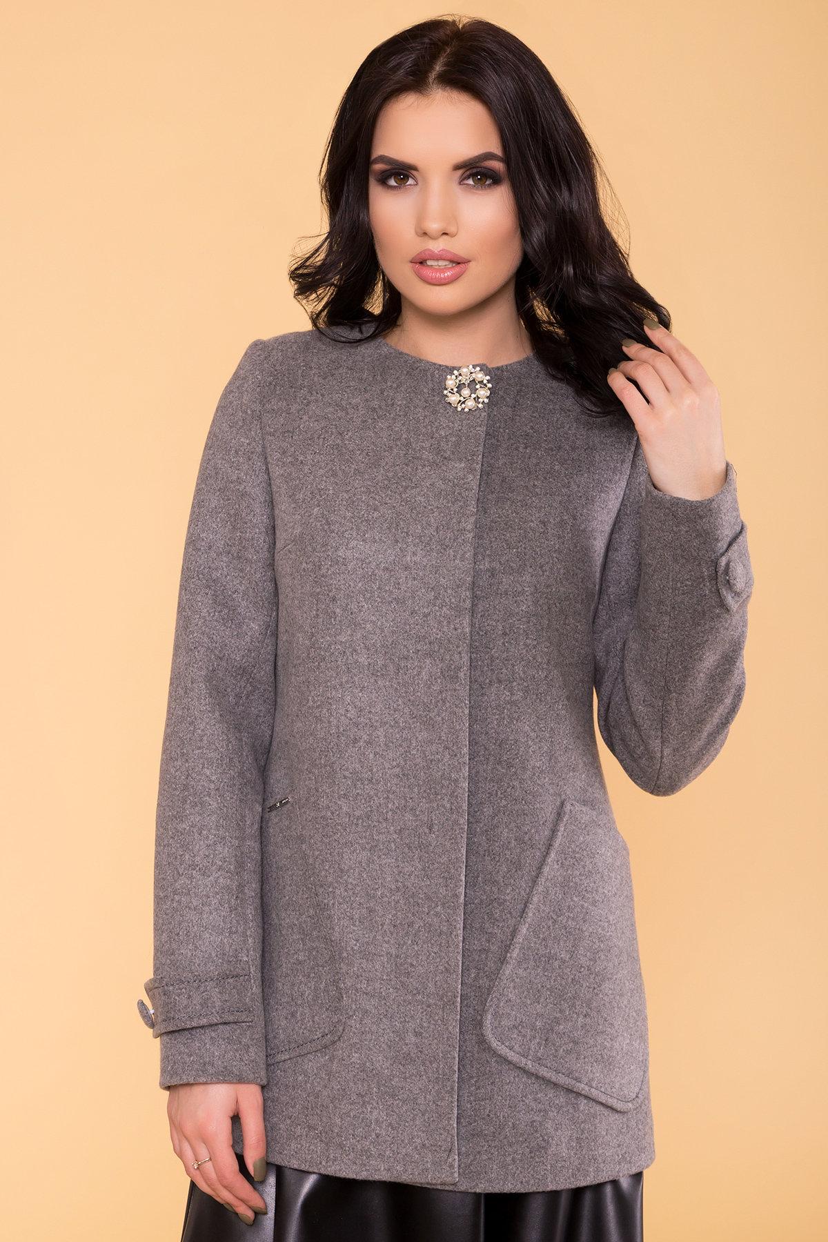 Пальто Латте 5636 АРТ. 37736 Цвет: Серый 18 - фото 4, интернет магазин tm-modus.ru