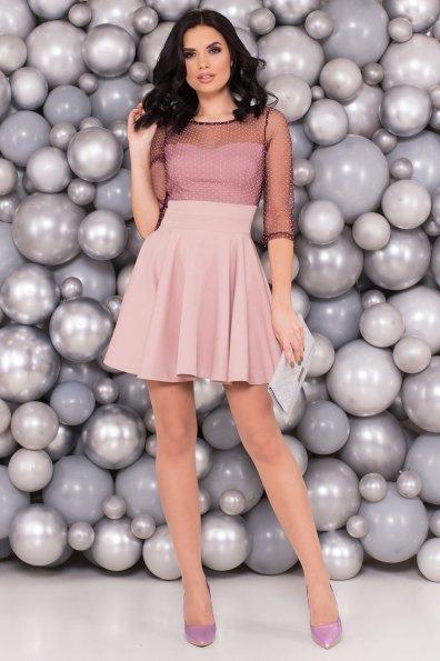 Платье с юбкой солнце Менди 6053 Цвет: Пудра
